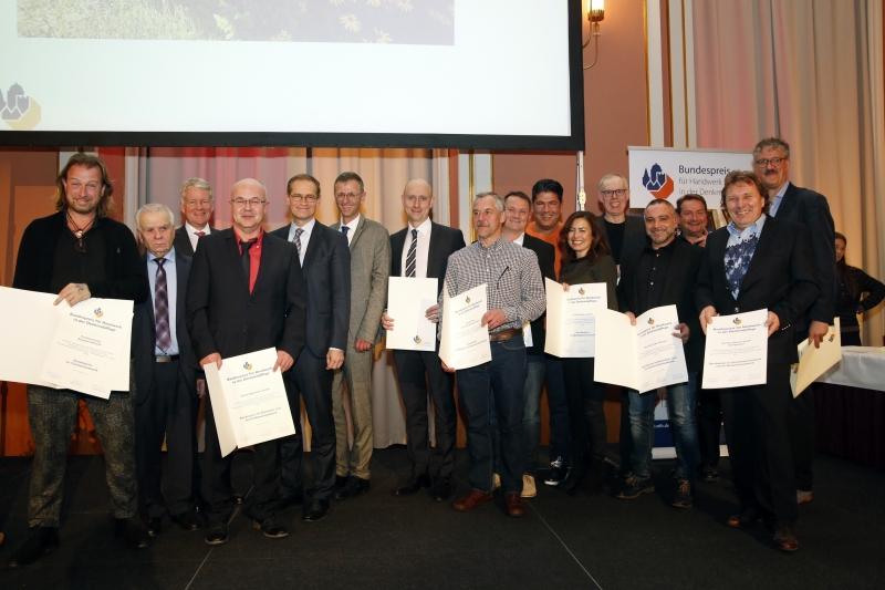 28.11.2017, Berlin/Mitte. Rotes Rathaus, Verleihung des Bundespreises für Handwerk in der Denkmalpflege.